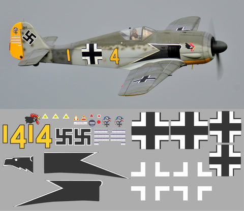 FW-190 Yellow 4 Graphics Set