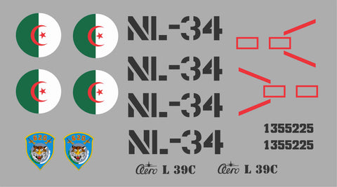 L-39 Albatros Algerian Airforce Graphics Set