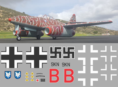 ME-262 Red B Graphics Set