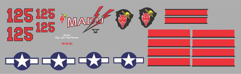 P-38 Madu V Graphics Set