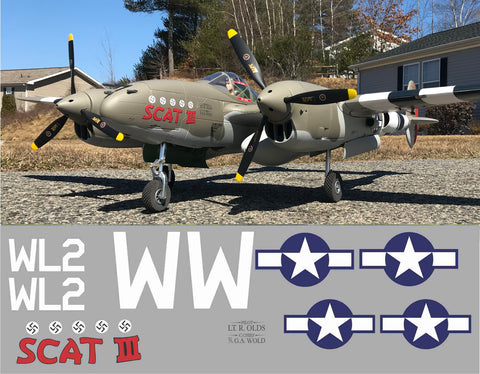 P-38 Scat III Graphics Set