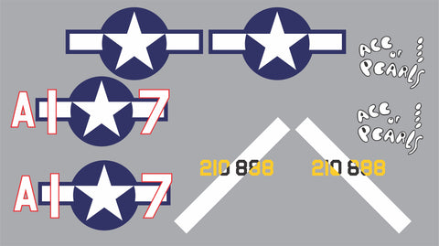 P-40 Ace of Pearls Graphics Set