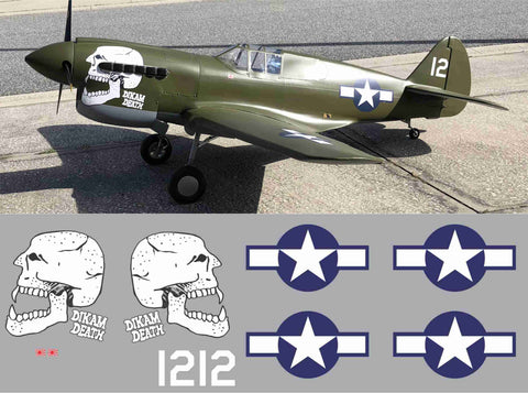 P-40 Burma Banshee #12 Dikam Death Graphics Set