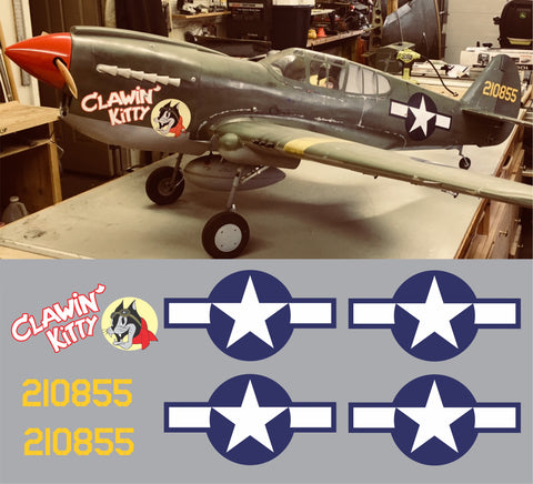 P-40 Clawin' Kitty Graphics Set