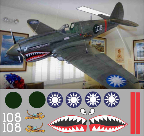 P-40 Flying Tigers #108 Graphics Set