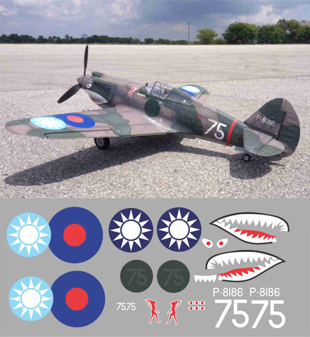 P-40 Hells Angels #75 Graphics Set