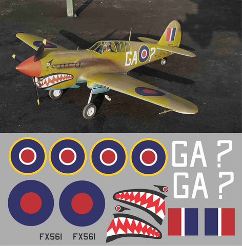 P-40 RAF GA ? Graphics Set