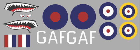 P-40 RAF GAF Graphics Set