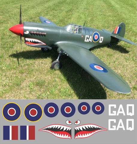 P-40 RAF 112 Squadron, GA Q Graphics Set