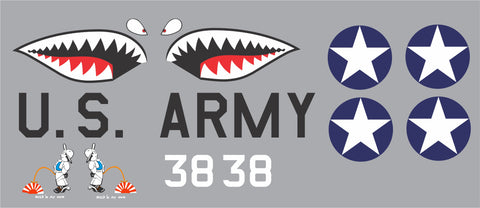 P-40 White #38 Hold 'N My Own Graphics Set