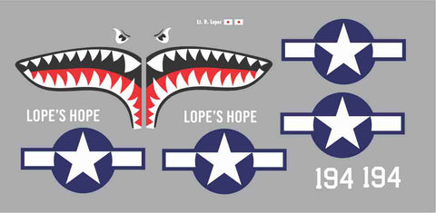 P-40 Lope's Hope Graphics Set