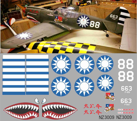 P-40 RNZAF Flying Tigers #88 Graphics Set