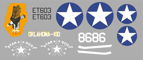 P-40 Oklahoma Kid/Star Dust Graphics Set