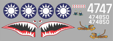 P-40 Panda Bears #47 Graphics Set