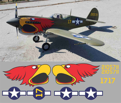 P-40 Parrot Head #17 Graphics Set