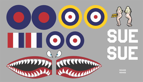 P-40 Sneak Attack SUE Graphics Set