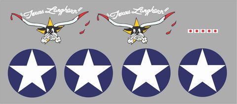 P-40 Texas Longhorns Graphics Set