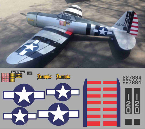 P-47 Bonnie Graphics Set