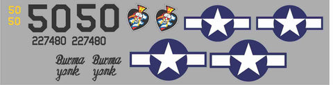 P-47 Burma Yank Graphics Set