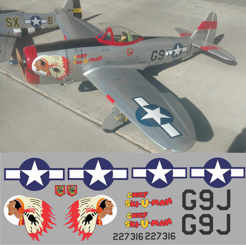 P-47 Chief Ski U Mah Graphics Set