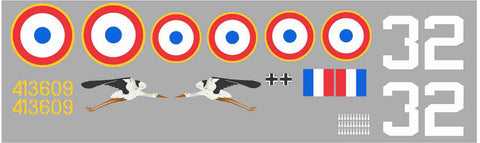 P-47 French AF White 32, Cigogne Graphics Set