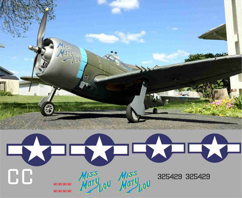 P-47 Miss Mary Lou Graphics Set