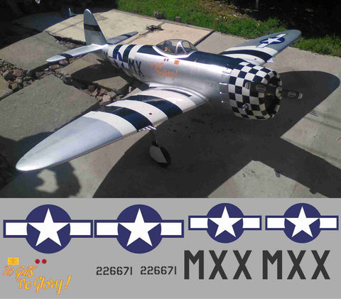 P-47 No Guts No Glory Graphics Set