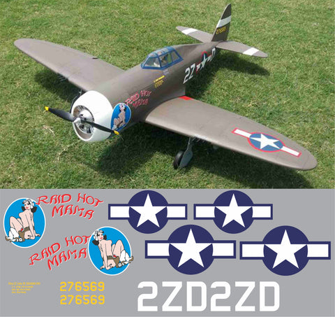 P-47 Raid Hot Mama Graphics Set
