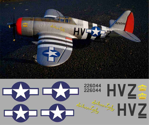 P-47 Silver Lady Graphics Set