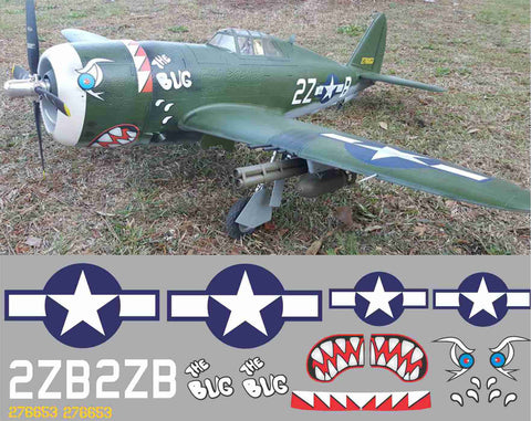 P-47 The Bug Graphics Set