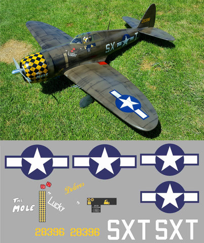 P-47 The Mole/Lucky Graphics Set