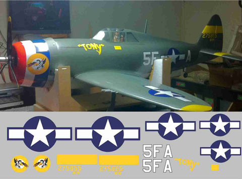P-47 Tony Graphics Set