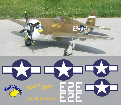 P-47 West by God Virginia Graphics Set