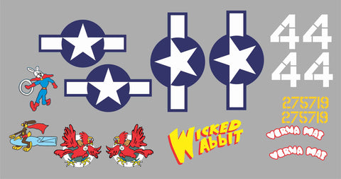 P-47 Wicked Wabbit Graphics Set