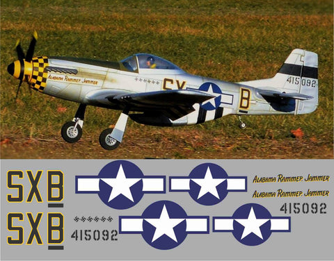 P-51D Alabama Rammer Jammer Graphics Set