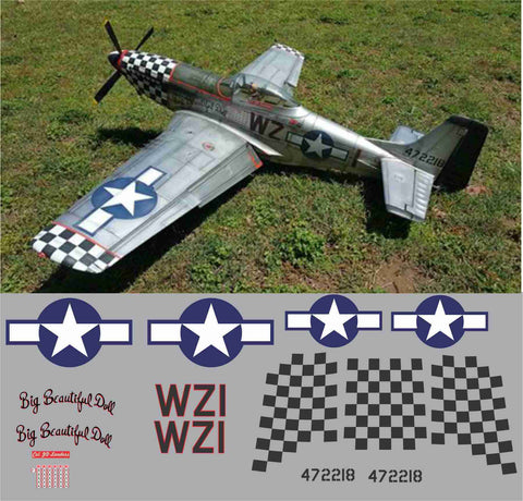 P-51D Big Beautiful Doll Graphics Set