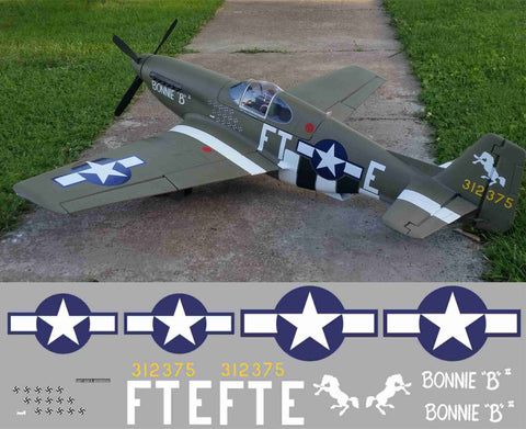 P-51B Bonnie B Graphics Set