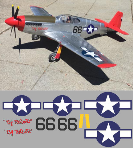 "P-51B Red Tails ""By Request"" Graphics Set"
