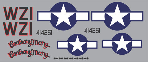 P-51D Contrary Mary Graphics Set
