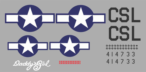 P-51D Daddy's Girl Graphics Set