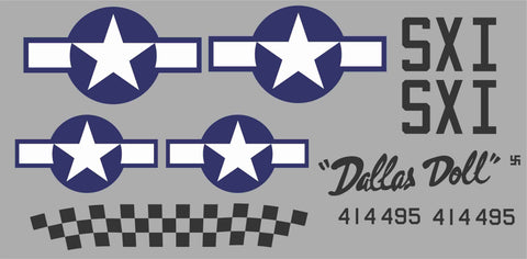 P-51D Dallas Doll Graphics Set