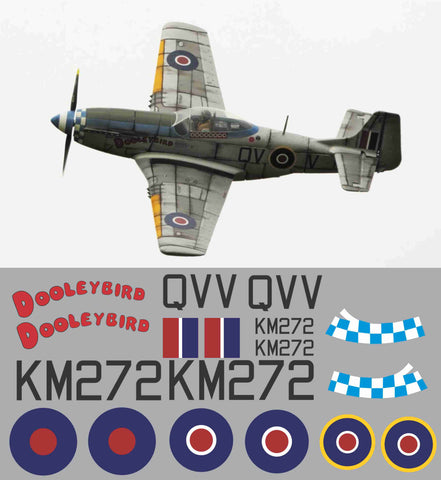 P-51D Dooleybird RAF Graphics Set