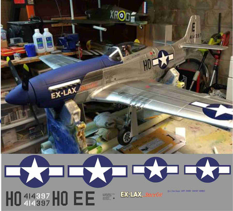 P-51D Ex-Lax Shht 'n' Git Graphics Set
