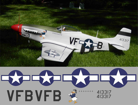 P-51D Fighting Duck Graphics Set