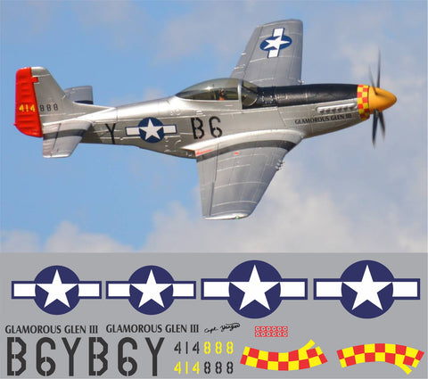 P-51D Glamorous Glen III Graphics Set
