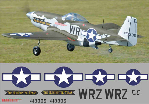 P-51D Hun Hunter of Texas Graphics Set