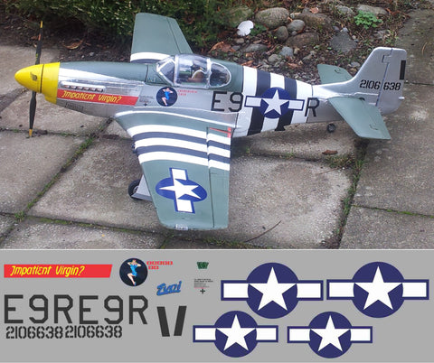 P-51B Impatient Virgin Graphics Set