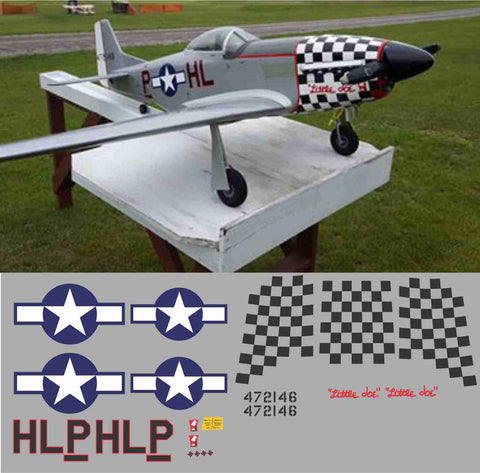 P-51D Little Joe Graphics Set