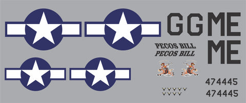 P-51D Pecos Bill Graphics Set