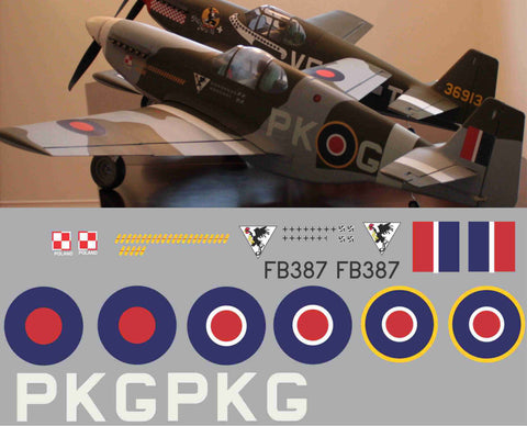 "P-51B RAF ""City of Deblin"" Graphics Set"